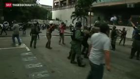 Video «Demonstrationen in Venezuela» abspielen