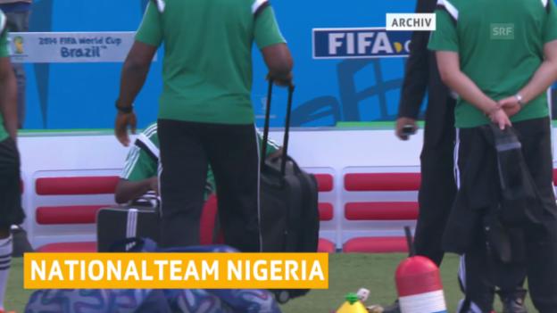 Video «Nigerias Spieler streiken» abspielen