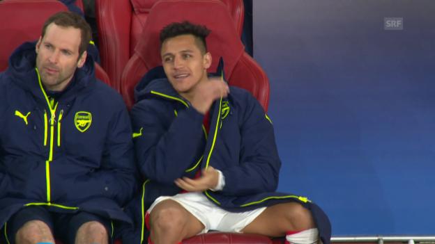 Video «Sanchez' Reaktion auf das 1:5 gegen die Bayern» abspielen