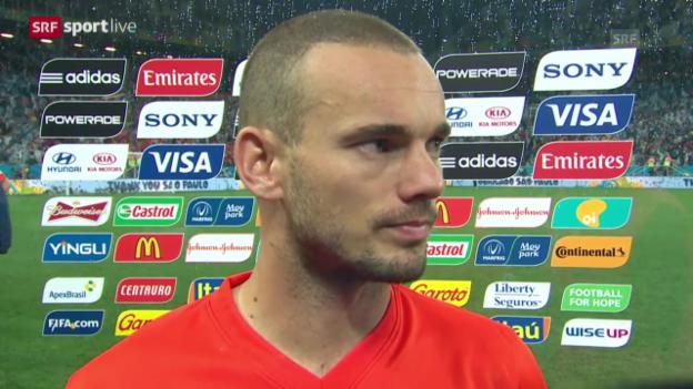 Video «FIFA WM 2014: Interview mit Wesley Sneijder» abspielen