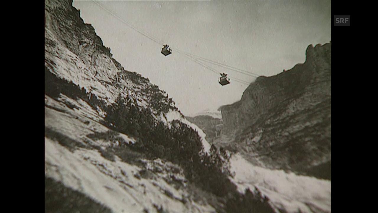 Aus dem Archiv: Der Bau der Wetterhornbahn