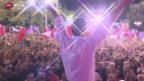 Video «Kopf-an-Kopf-Rennen in Griechenland» abspielen