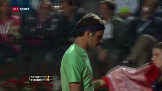 Video «Duell Federer-Simon in Rom («sportaktuell»)» abspielen