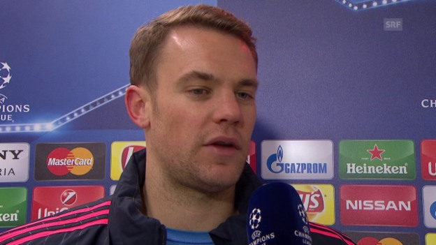 Video «Bayern-Goalie Neuer im Interview» abspielen