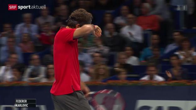Video «Tennis: Roger Federer im Halbfinal von Basel» abspielen
