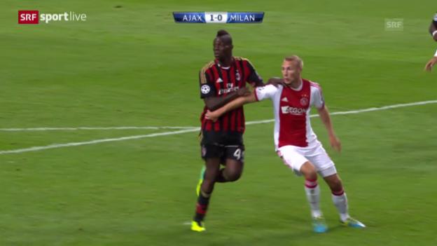 Video «Fussball: Ajax Amsterdam - AC Milan («sportlive»)» abspielen