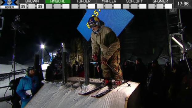 Video «Freeski: X-Games in Aspen mit Elias Ambühl» abspielen