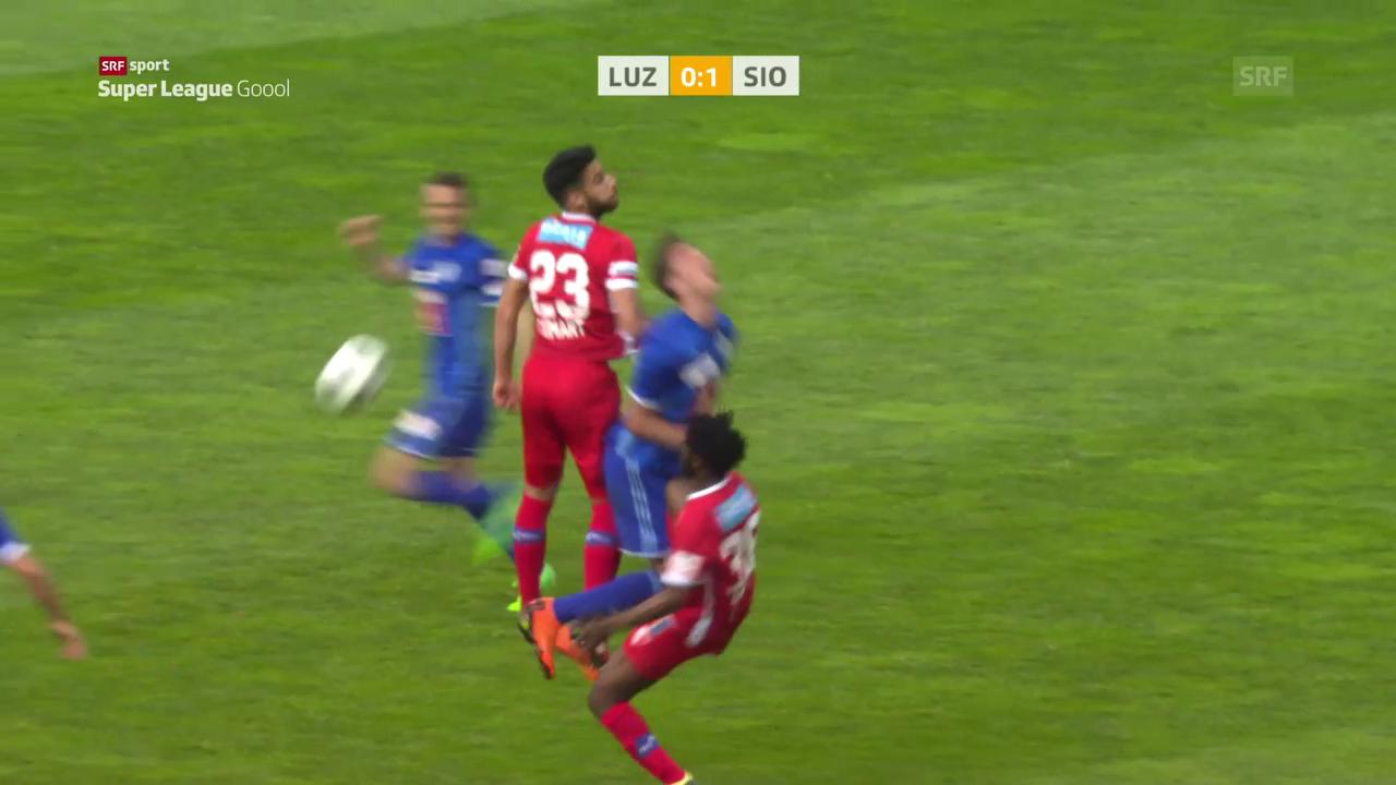 Sion punktet dank 1:0-Sieg auswärts in Luzern voll