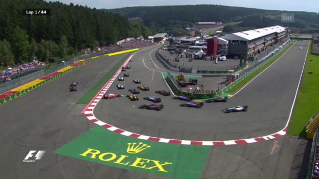 Video «Der turbulente Start beim GP in Spa» abspielen