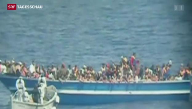 Video «Weiteres Flüchtlingsdrama vor Süditalien» abspielen