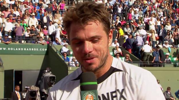 Video «Tennis: French Open, Siegerinterview Wawrinka» abspielen