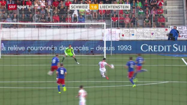 Video «Fussball: Testspiel Schweiz - Liechtenstein» abspielen