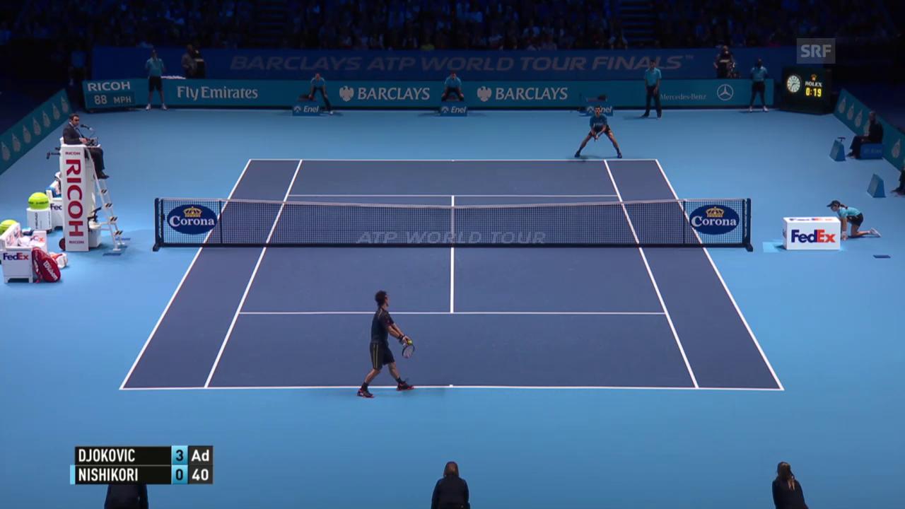 Tennis: ATP Finals, Djokovic - Nishikori
