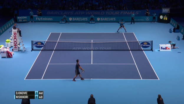 Video «Tennis: ATP Finals, Djokovic - Nishikori» abspielen
