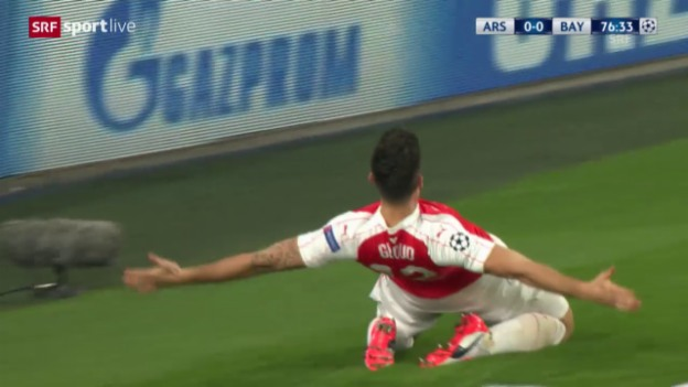 Video «Fussball: Champions League, 3. Runde, 1:0 Giroud» abspielen
