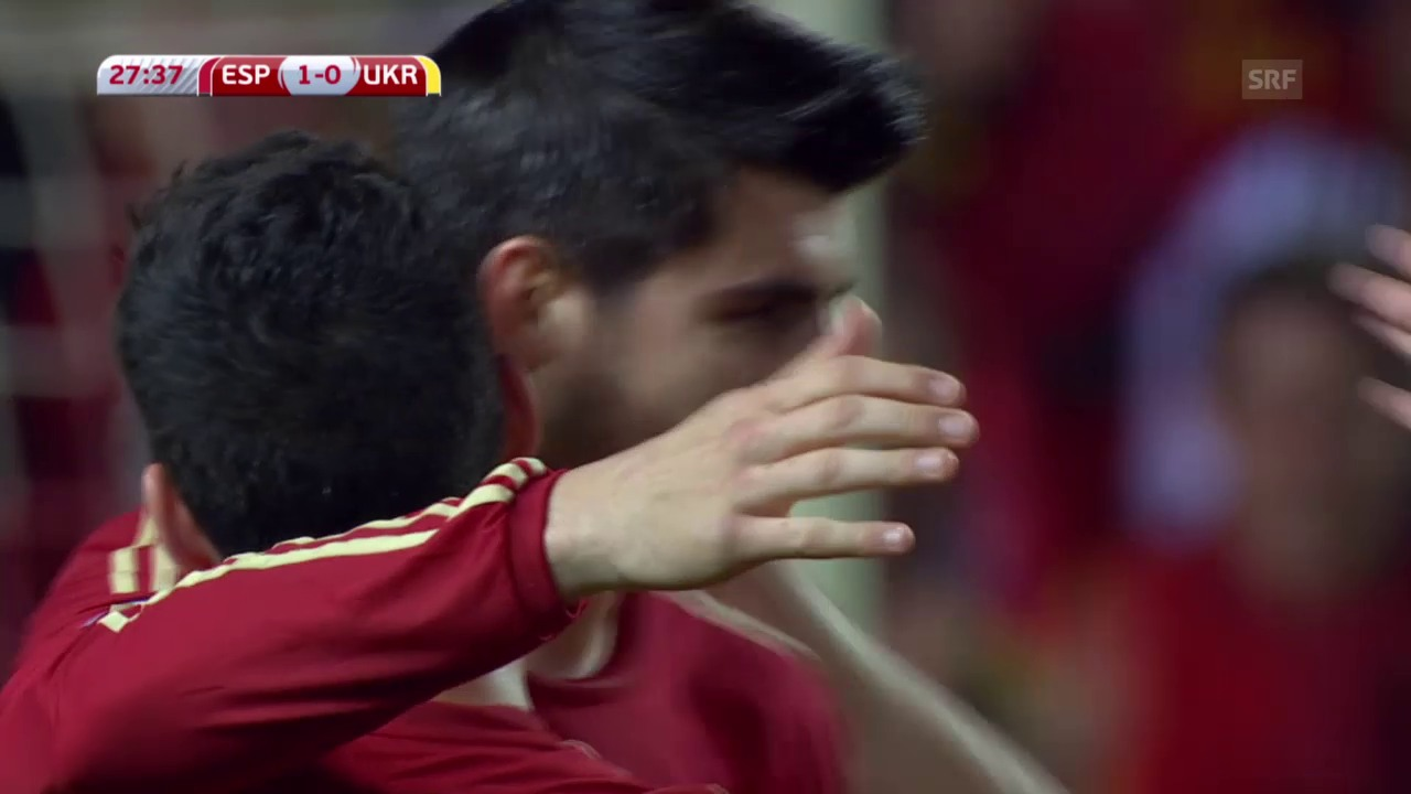 Fussball: EURO 2016, Qualifikation, Spanien - Ukraine