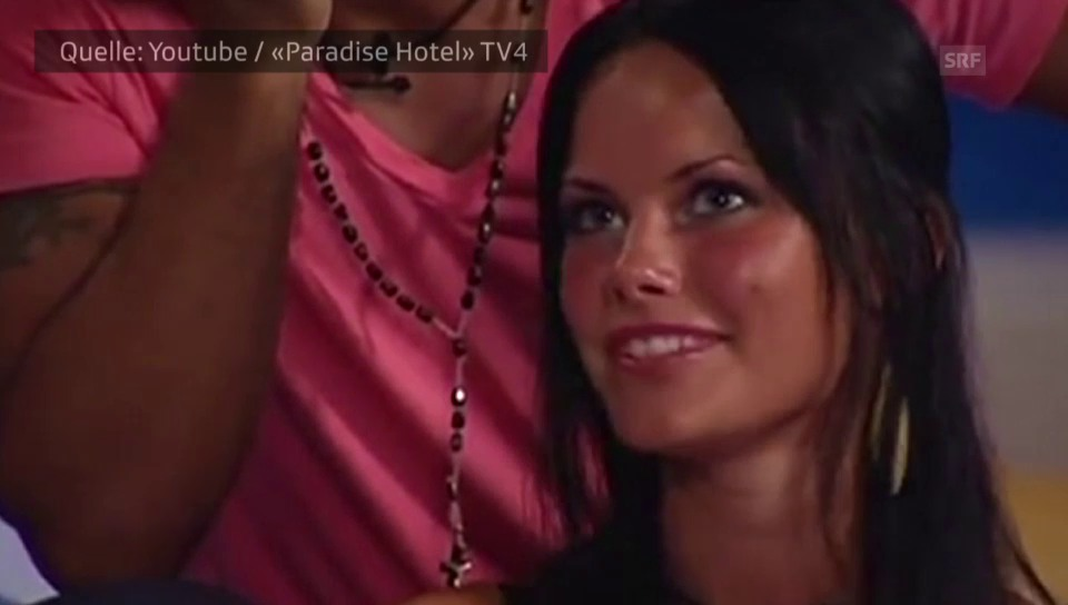 Sofia Hellqvist 2005 in der Reality-Serie «Paradise Hotel»