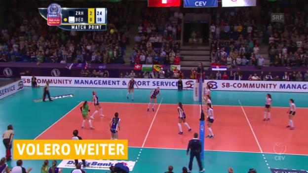 Video «Volleyball: Volero zieht in die nächste CL-Runde» abspielen