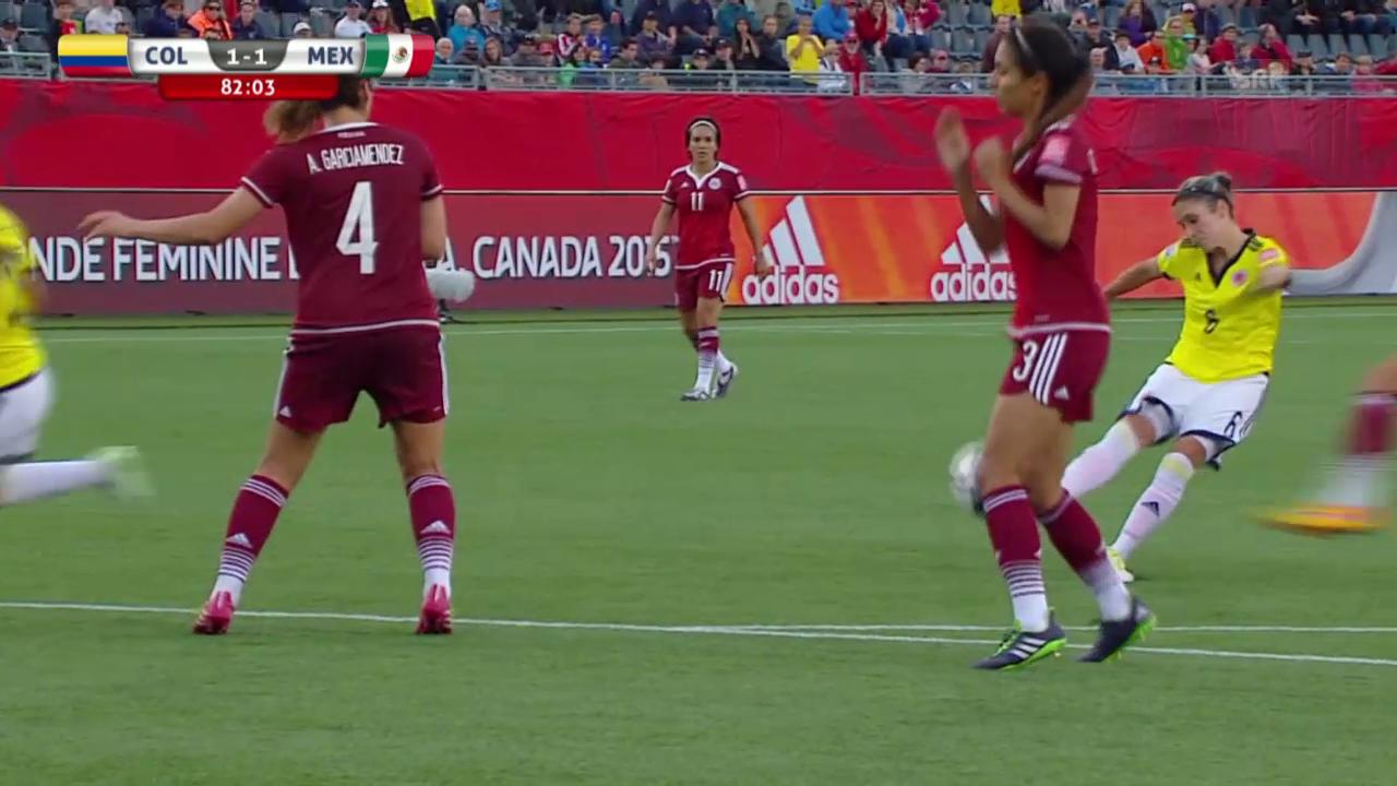 Fussball WM Frauen: 1:1 für Kolumbien durch Montoya