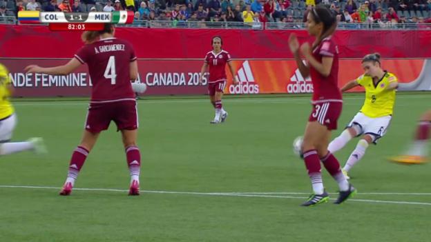 Video «Fussball WM Frauen: 1:1 für Kolumbien durch Montoya» abspielen