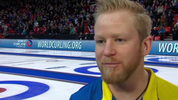 Video «Curling: Männer-WM in Halifax, We.tmeister-Skip Niklas Edin im Interview» abspielen
