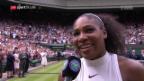 Video «Serena Williams gewinnt Wimbledon» abspielen