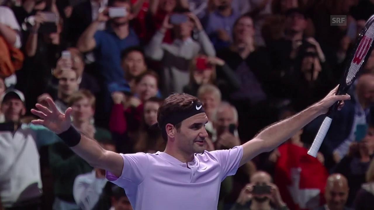 Federer vor seinem letzten Gruppenspiel