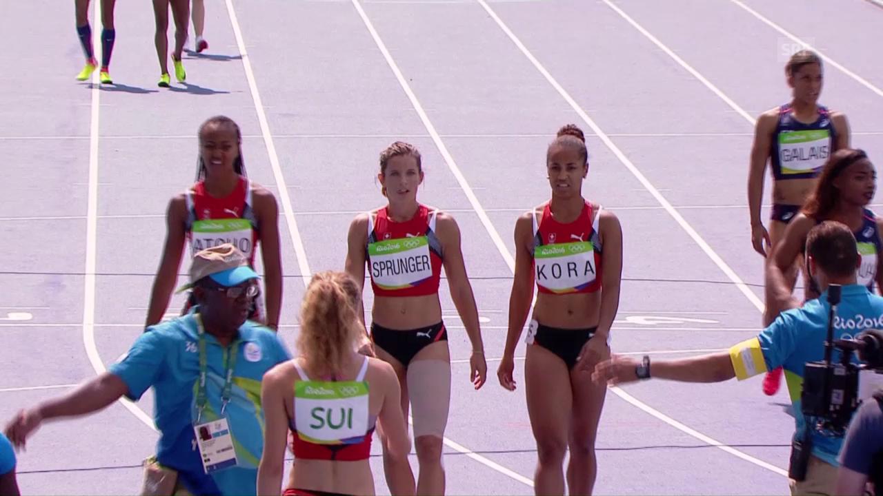 Die Schweizer Frauenstaffel verpasst den Final