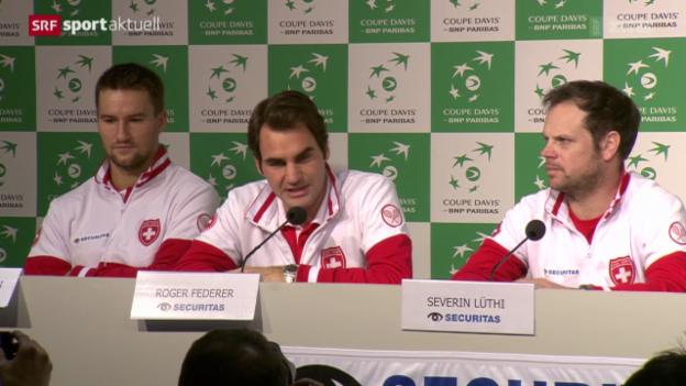 Video «Tennis: Davis Cup, Vorbereitungen im Schweizer Lager» abspielen