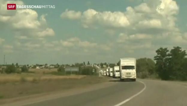 Video «Moskaus Hilfskonvoi überquert Grenze» abspielen