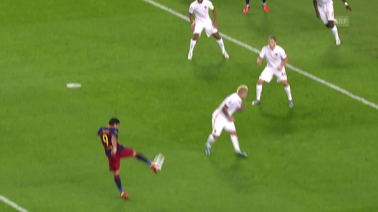 Fussball: Champions League, Barcelona-Roma, 3:0 Suarez