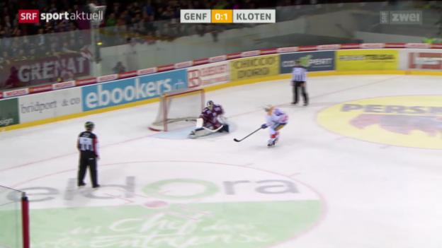 Video «Eishockey: NLA, Genf - Kloten» abspielen
