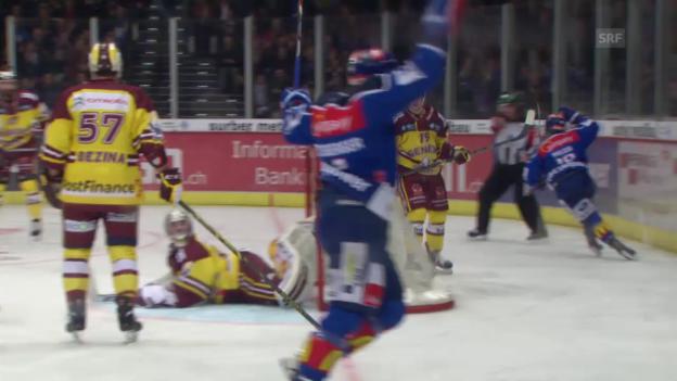 Video «Eishockey: Playoff-Halbfinal, alle Tore bei ZSC -Genf» abspielen