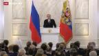Video «Putin redet Wirtschaftsprobleme nicht mehr schön» abspielen