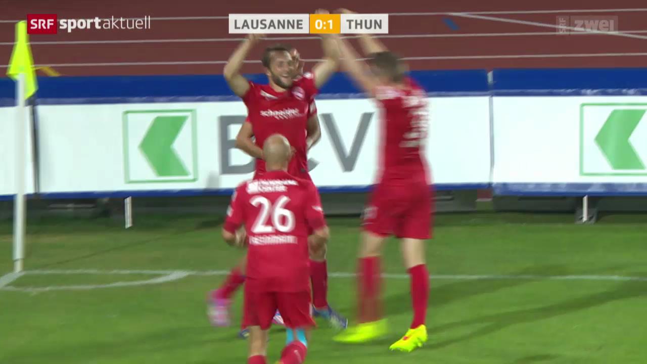 Fussball: Lausanne - Thun