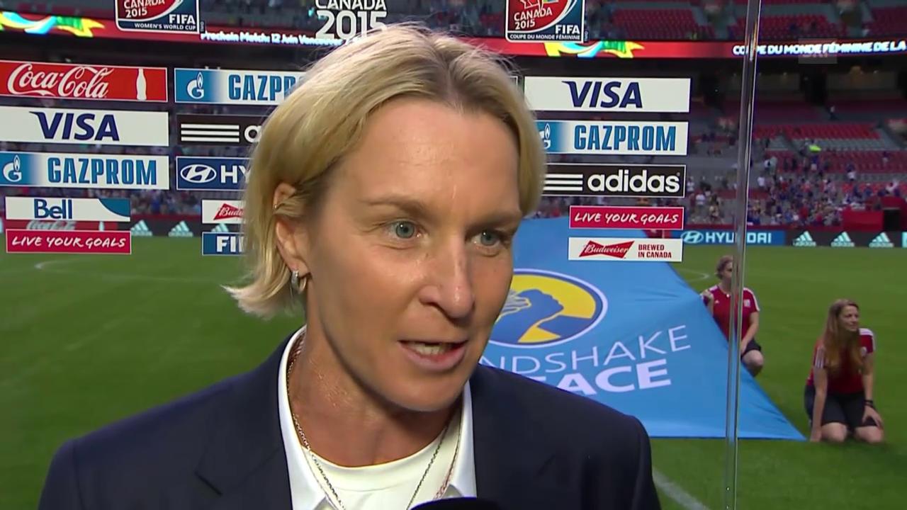 Fussball: Frauen-WM, Japan-Schweiz, Interview mit Martina Voss-Tecklenburg