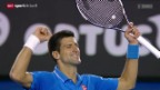 Video «Tennis: Australian Open: Djokovic-Raonic» abspielen