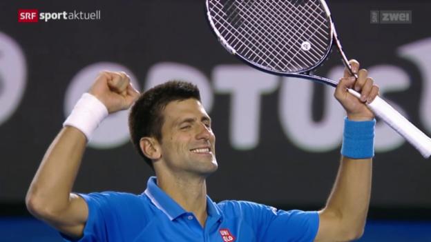 Video «Tennis: Australian Open: Djokovic-Raonic» abspielen