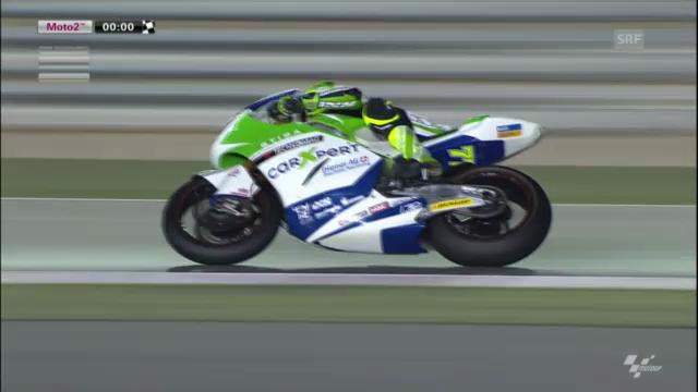 Schlussphase Qualifying Moto2 Katar