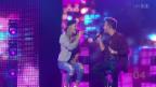 Video «Alessia Alig im Duett mit Luca Hänni mit «I can't get no sleep»» abspielen