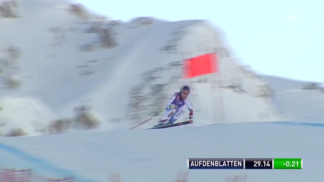 Ski Alpin: Abfahrt Frauen Val d'Isère, Fahrt von Aufdenblatten in Val d'Isère («sportlive», 21.12.2013)