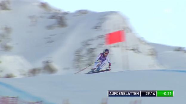 Video «Ski Alpin: Abfahrt Frauen Val d'Isère, Fahrt von Aufdenblatten in Val d'Isère («sportlive», 21.12.2013)» abspielen