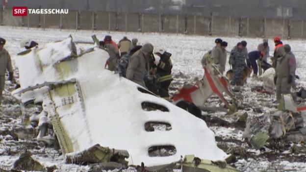 Video «Flugzeugabsturz in Südwestrussland» abspielen