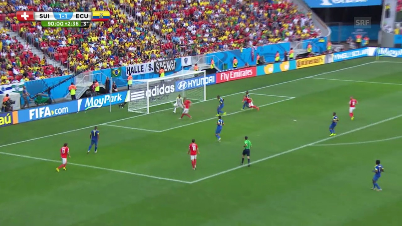 Fussball: WM, Tor von Seferovic gegen Ecuador