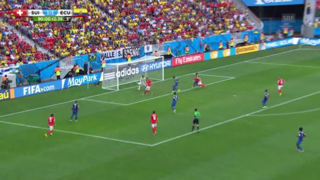 Video «Fussball: WM, Tor von Seferovic gegen Ecuador» abspielen