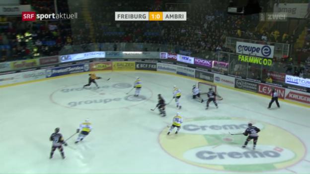 Video «Freiburg mit 6 Powerplay-Toren gegen Ambri» abspielen