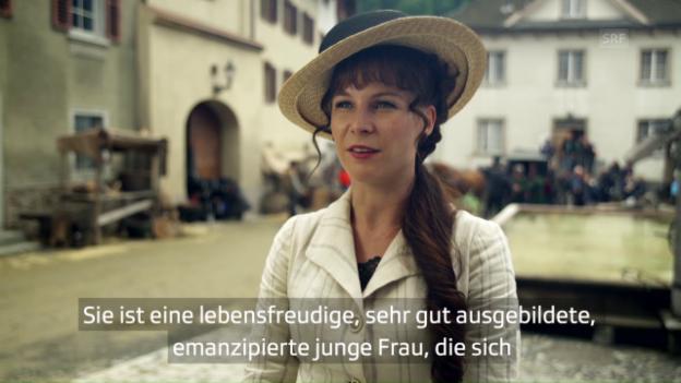Video «Anna Schinz über ihre Rolle als Maja Favre» abspielen