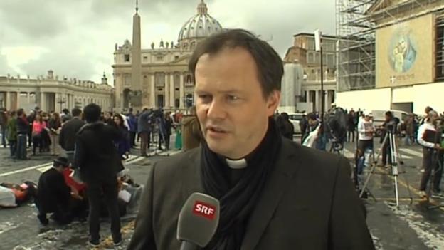Video «Sprecher von Radio Vatikan im Interview mit SRF Korrespondent Philipp Zahn» abspielen