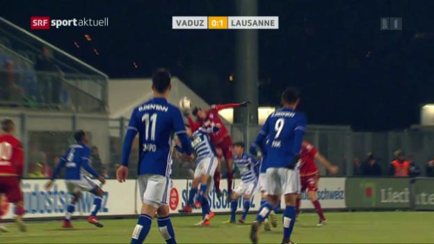 Video «Vaduz dank Last-Minute-Penalty mit Remis» abspielen