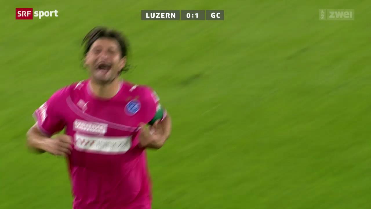 Fussball: Luzern-GC